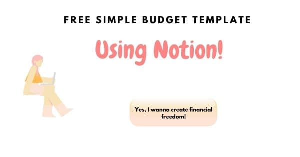 How to create minimalist budget plan using notion